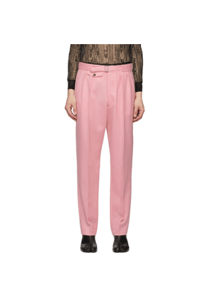 Maison Margiela Pink Wool Pleated Trousers