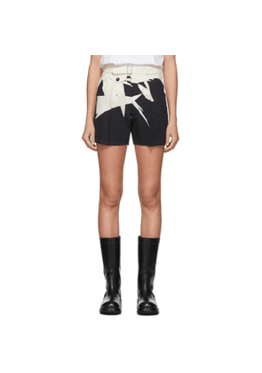 Maison Margiela Navy and White Printed Shorts