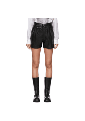 Maison Margiela Black Faux-Leather Shorts