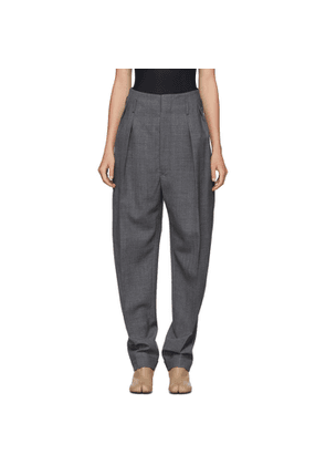 Maison Margiela Grey Structured High-Waist Trousers