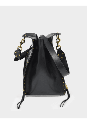 Taj Bag in Black Leather
