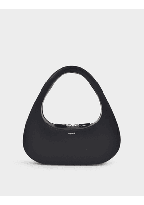 Baguette Swipe Bag in Black Leather