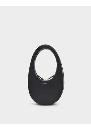 Swipe Mini Bag in Black Leather