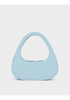 Baguette Swipe Bag in Aqua Leather