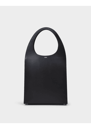 Swipe Tote in Black Leather