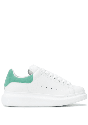 Alexander McQueen Oversized suede-paneled sneakers - White