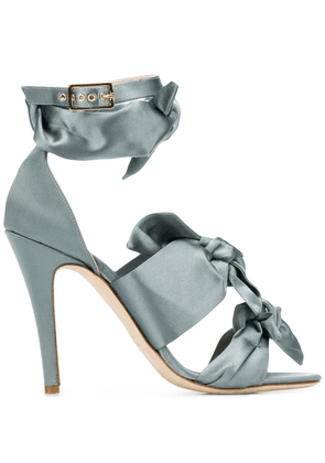 Gia Couture bow-detail sandals - Grey