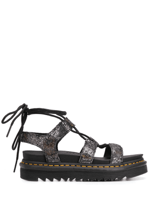 Dr. Martens wrapped ankle sandals - SILVER