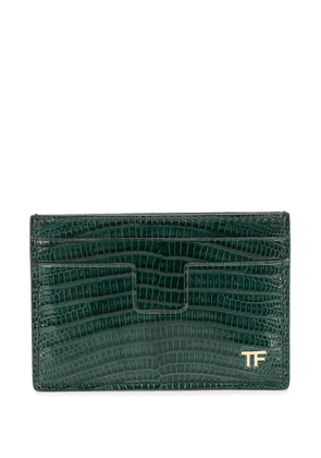 Tom Ford snakeskin effect cardholder - Green