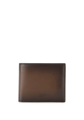 Tom Ford leather two tone wallet - Brown