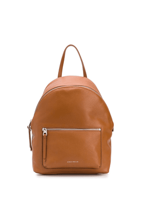 Coccinelle Alix logo backpack - Brown