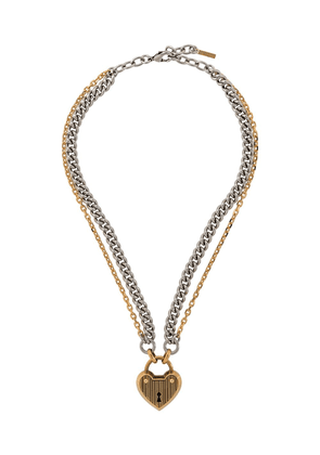 Mulberry heart locket necklace - GOLD