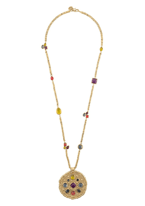 Goossens mini cabochons medallion necklace - GOLD