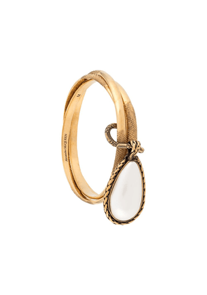 Alexander McQueen droplet charm bangle - GOLD
