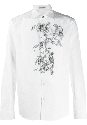 Etro floral embroidered shirt - White
