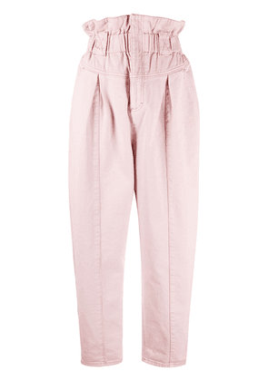 Fendi paperbag cropped trousers - PINK