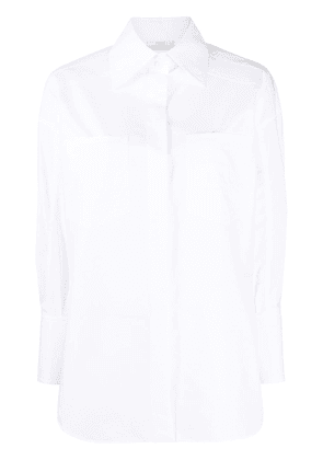 Fendi fitted cuffs buttoned shirt - White