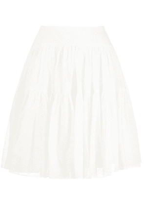 Chloé flared short skirt - White