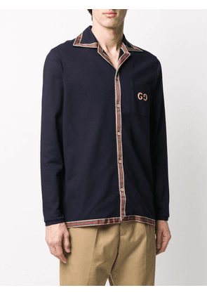 Gucci long-sleeved polo shirt - Blue