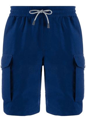 Brunello Cucinelli drawstring swimming trunks - Blue