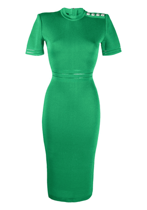 Balmain fitted mid-length dress - Green