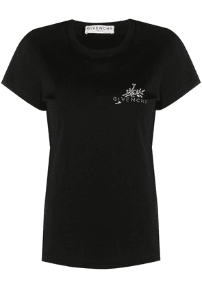 Givenchy logo embellished crop T-shirt - Black