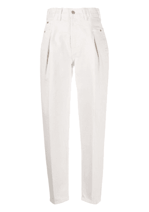 RE/DONE high-waisted tapered jeans - NEUTRALS