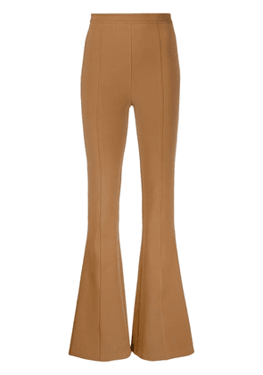 Elisabetta Franchi flared fitted trousers - Brown