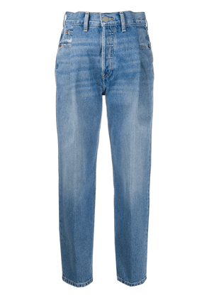 RE/DONE Zoot high-rise tapered jeans - Blue