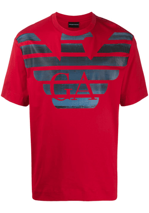 Emporio Armani printed T-shirt - Red