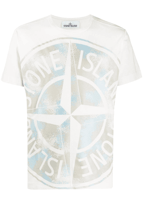Stone Island logo short-sleeve T-shirt - White