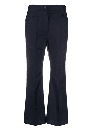 Jil Sander cropped bell flare trousers - Blue