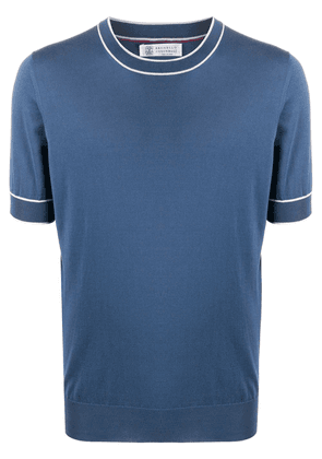 Brunello Cucinelli short-sleeve fitted T-shirt - Blue