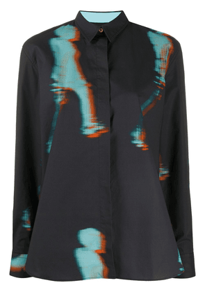 Paul Smith faded print shirt - Blue