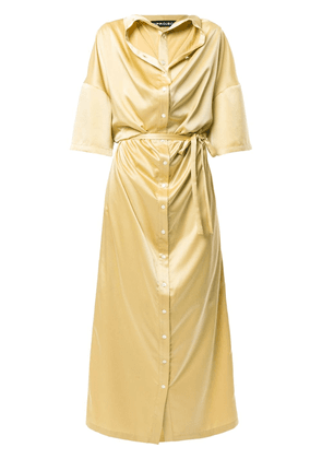 Y/Project Infinity shirt dress - Yellow