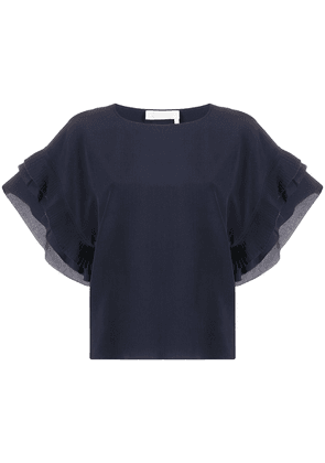Chloé ruffled slik blouse - Blue