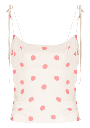 Reformation Lupe polka dot top - NEUTRALS