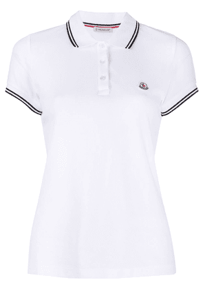 Moncler cotton short-sleeve polo shirt - White