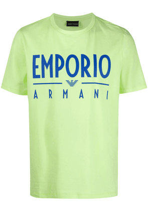 Emporio Armani logo print relaxed-fit T-shirt - Yellow