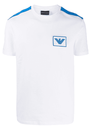 Emporio Armani two-tone logo T-Shirt - White
