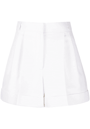 Alexander McQueen high-waisted tailored shorts - White
