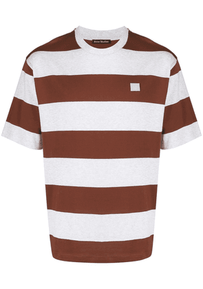 Acne Studios striped T-shirt - Brown