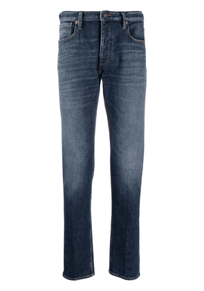 Emporio Armani low-rise slim-fit jeans - Blue