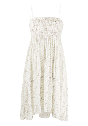 Chloé floral print midi dress - NEUTRALS