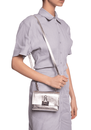 Off White Shoulder Bag With Logo Women's Silver