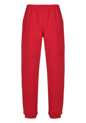 Styland cuffed pull-on track pants - Red