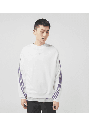 adidas Originals 3 Stripe Wrap Sweatshirt, WHT/WHT