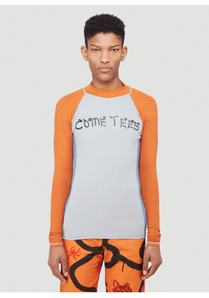 Come Tees Rashguard Stretch Top in Blue size S