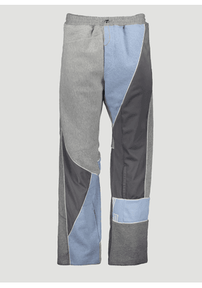 Ahluwalia Patchwork Track Pants in Grey size S