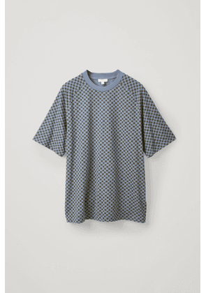 CHECKED COTTON T-SHIRT